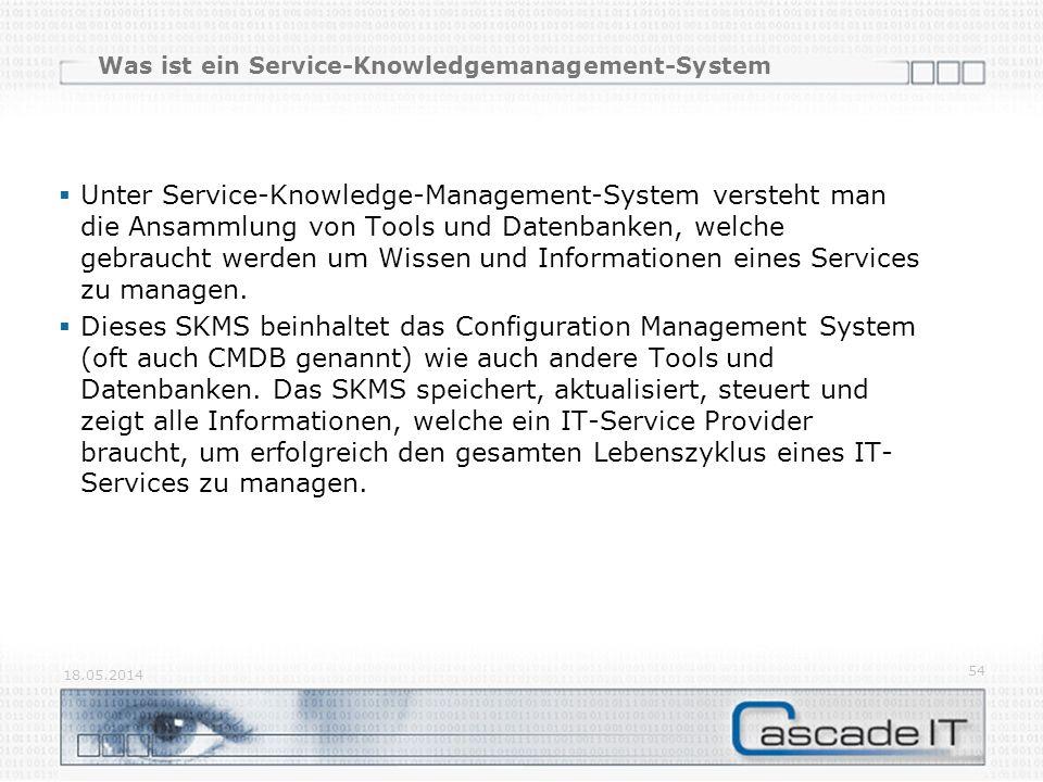 Was ist ein Service-Knowledgemanagement-System