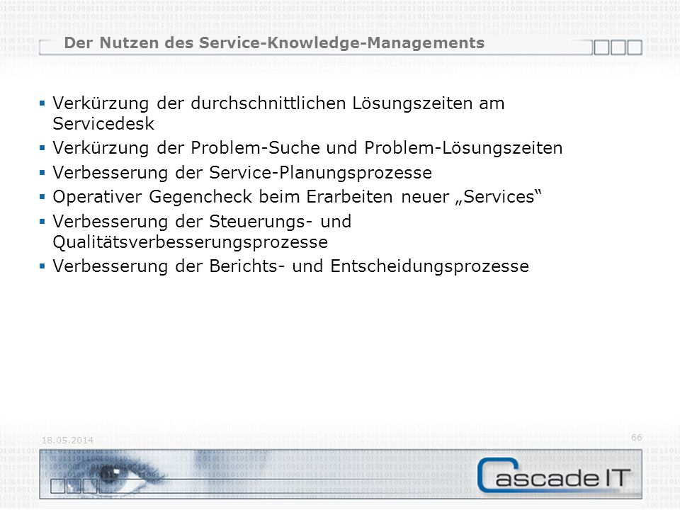 Der Nutzen des Service-Knowledge-Managements