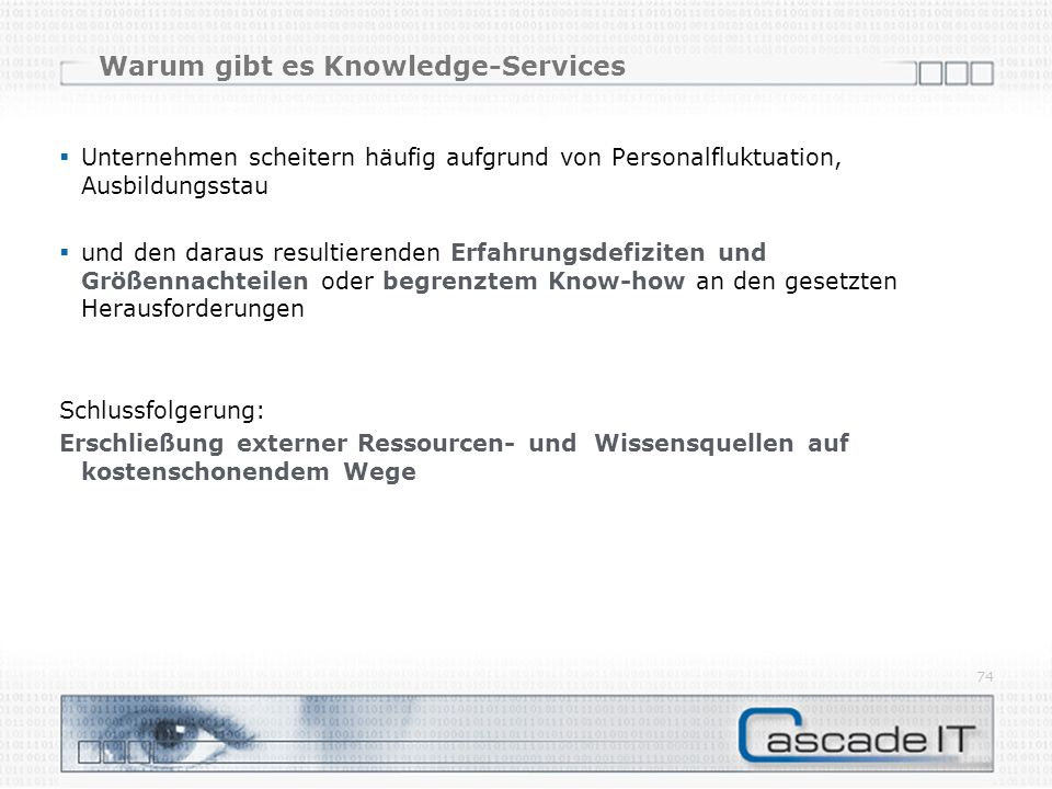 Warum gibt es Knowledge-Services