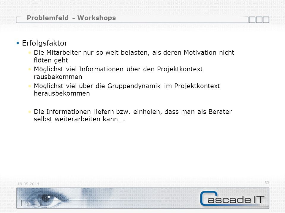 Problemfeld - Workshops