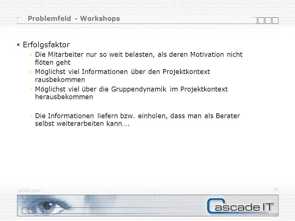 Problemfeld - Workshops