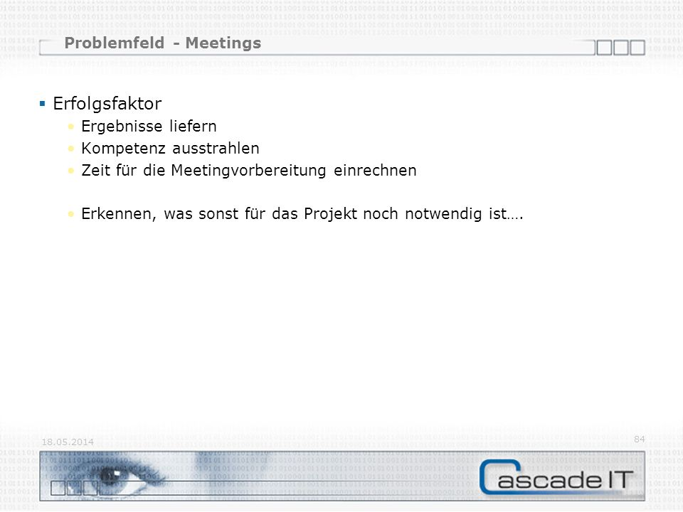 Problemfeld - Meetings
