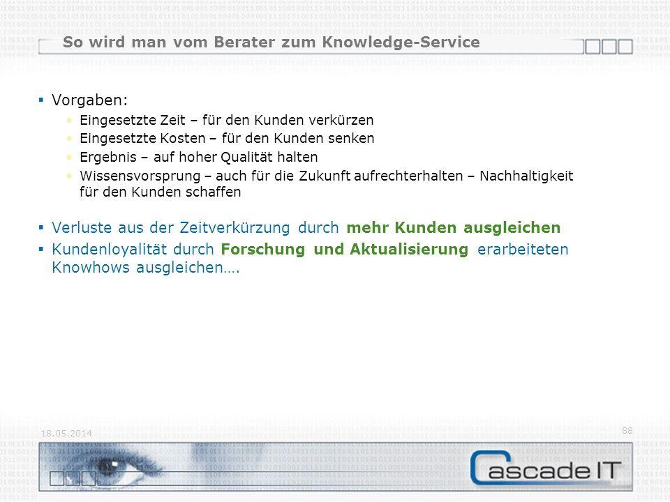 So wird man vom Berater zum Knowledge-Service