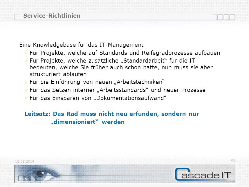 Eine Knowledgebase für das IT-Management