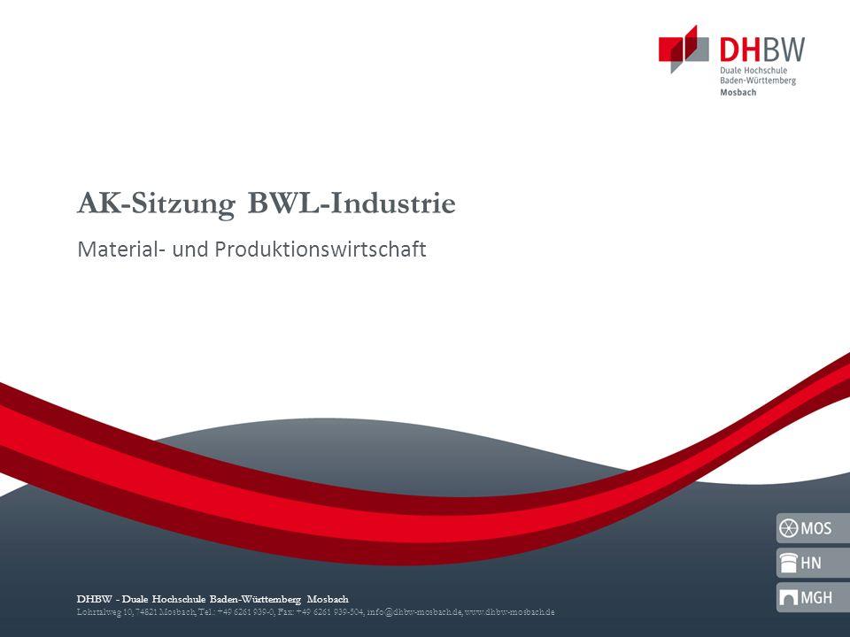 AK-Sitzung BWL-Industrie