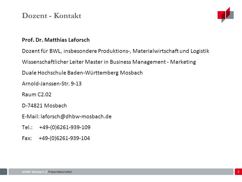 Dozent - Kontakt Prof. Dr. Matthias Laforsch