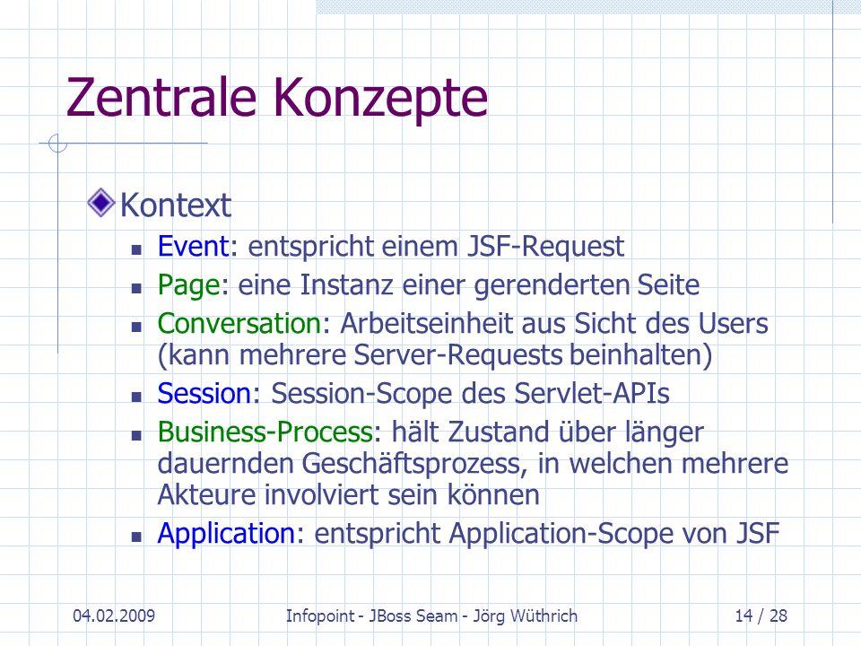 Infopoint - JBoss Seam - Jörg Wüthrich