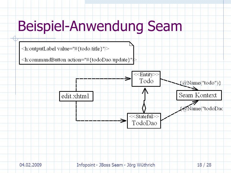 Beispiel-Anwendung Seam
