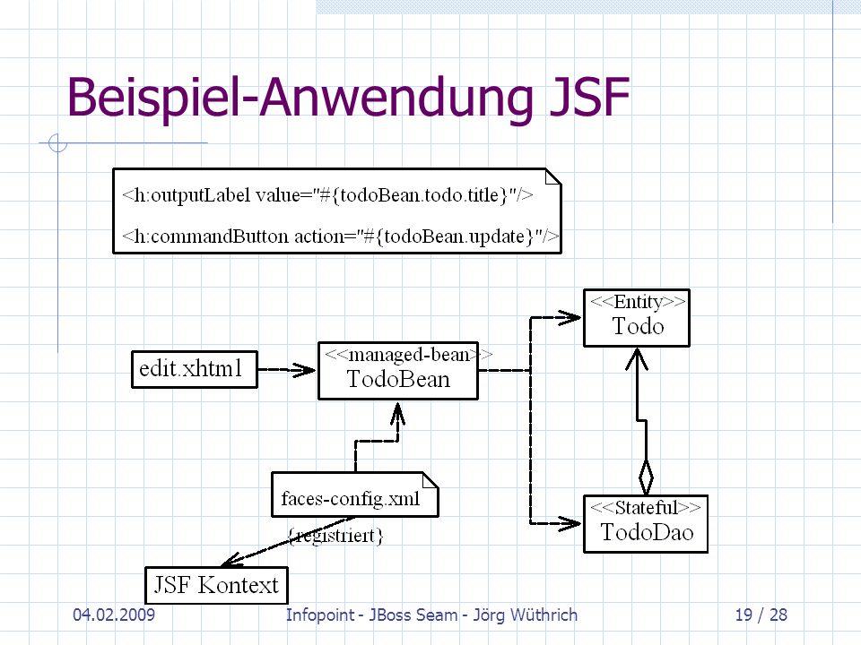 Beispiel-Anwendung JSF