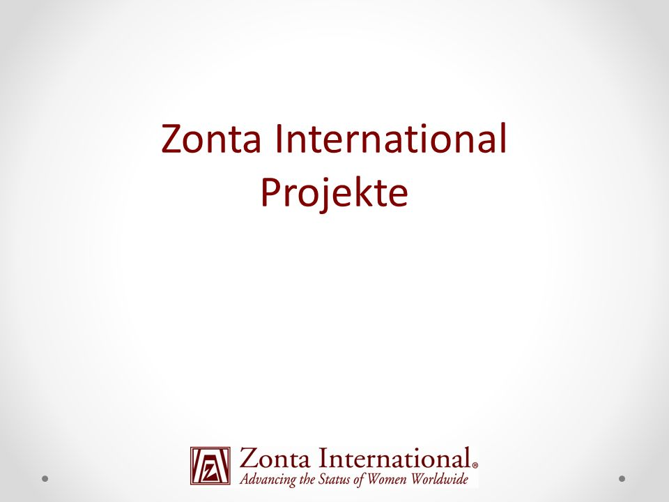 Zonta International Projekte