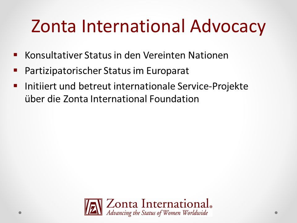 Zonta International Advocacy