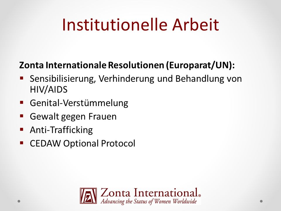 Institutionelle Arbeit