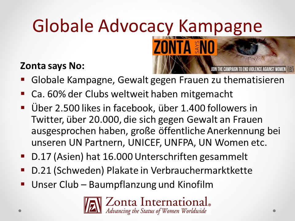 Globale Advocacy Kampagne