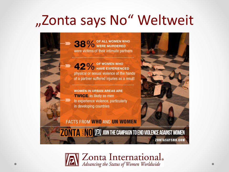 """Zonta says No Weltweit"