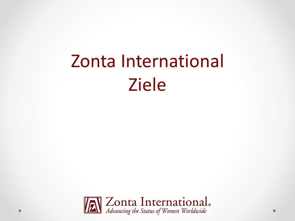 Zonta International Ziele