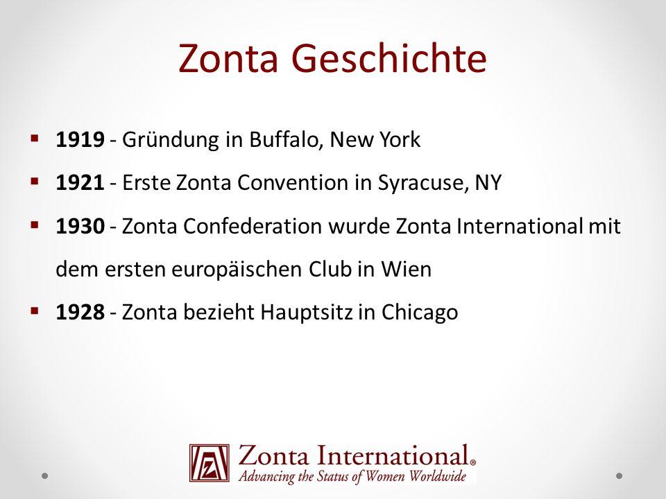 Zonta Geschichte 1919 - Gründung in Buffalo, New York