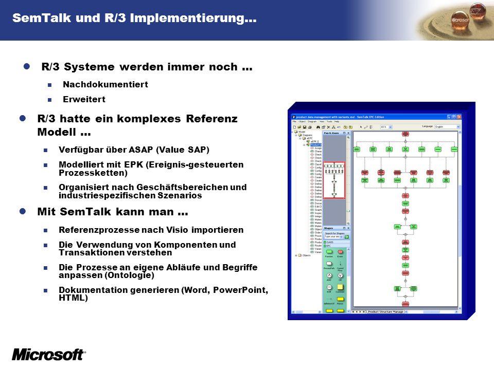 SemTalk und R/3 Implementierung…