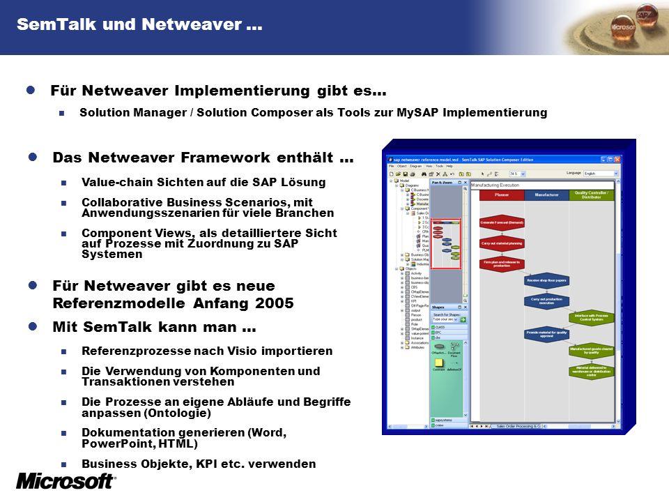 SemTalk und Netweaver …