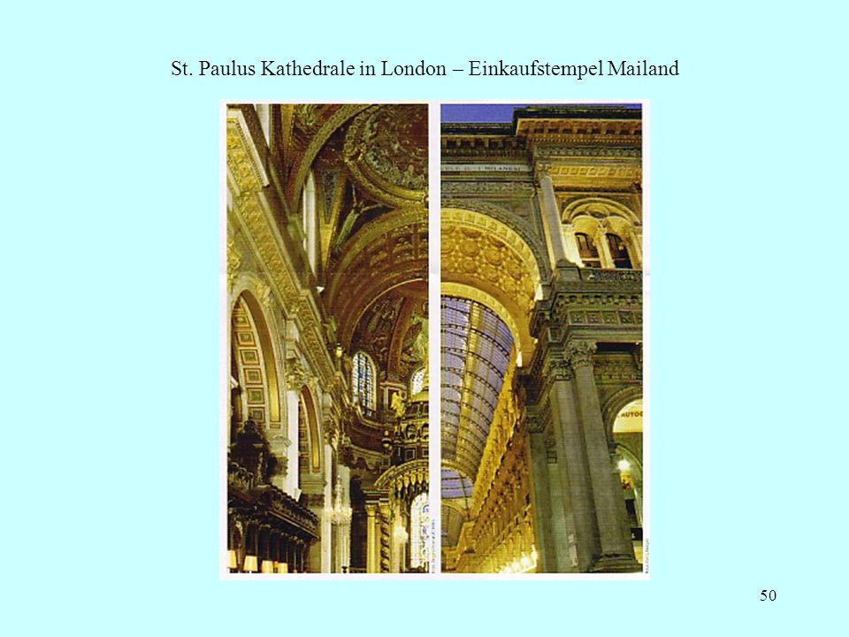 St. Paulus Kathedrale in London – Einkaufstempel Mailand