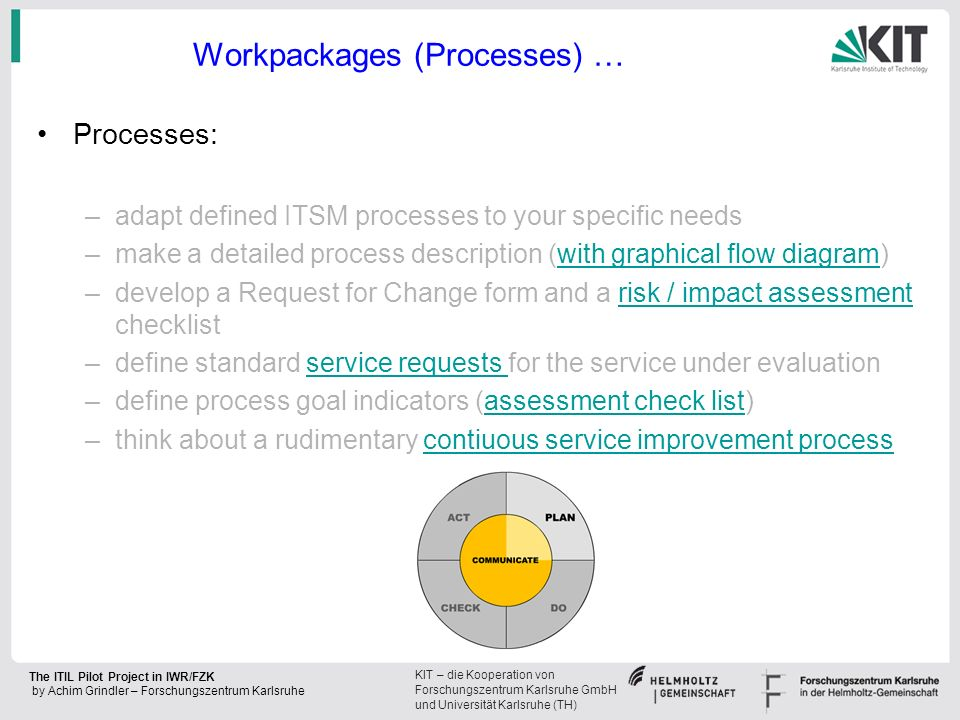 Workpackages (Processes) …