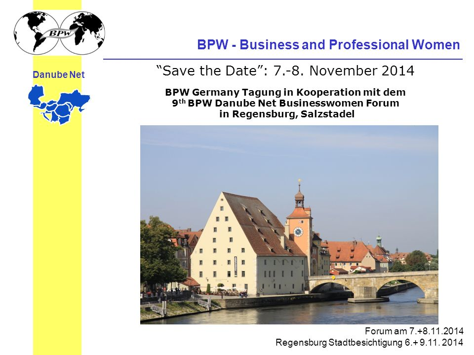 BPW Germany Tagung in Kooperation mit dem in Regensburg, Salzstadel