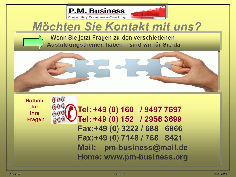 Möchten Sie Kontakt mit uns