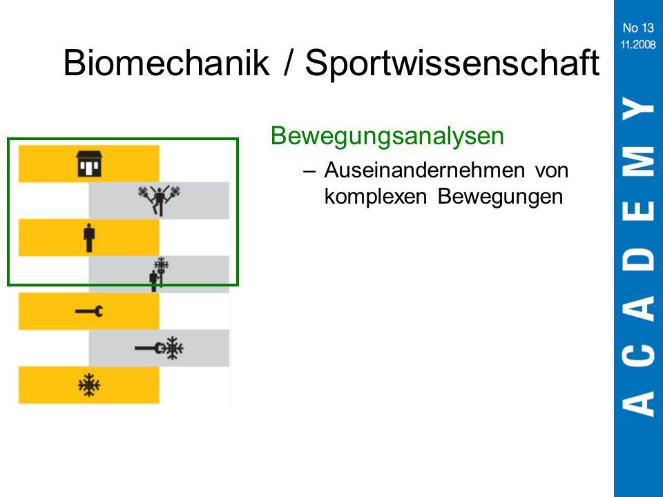 Biomechanik / Sportwissenschaft