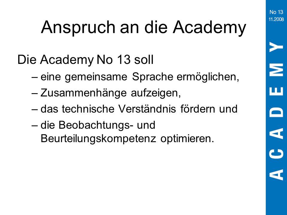 Anspruch an die Academy