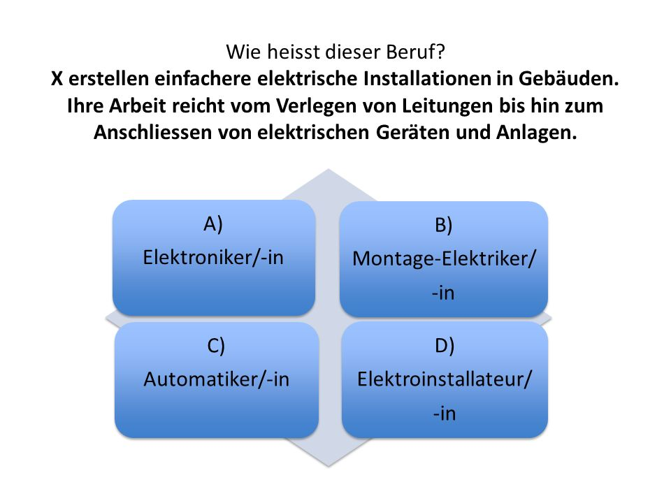 Elektroinstallateur/