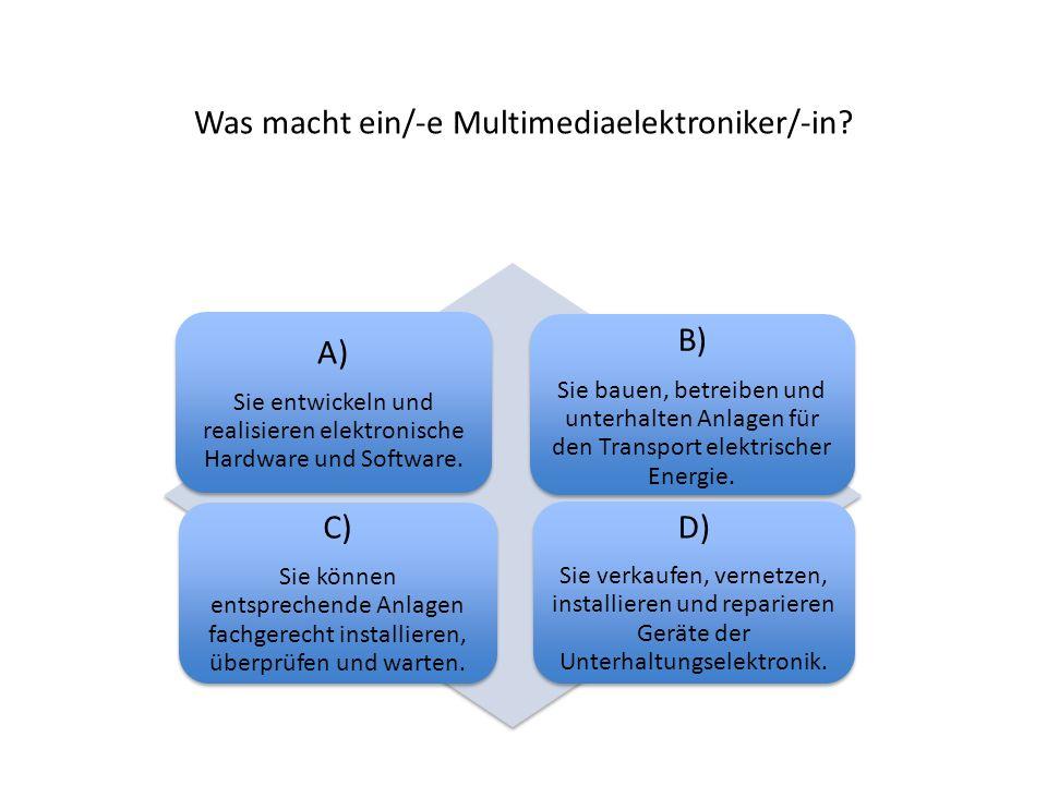 Was macht ein/-e Multimediaelektroniker/-in