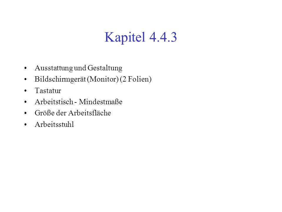 Kapitel 4.4.3 Ausstattung und Gestaltung