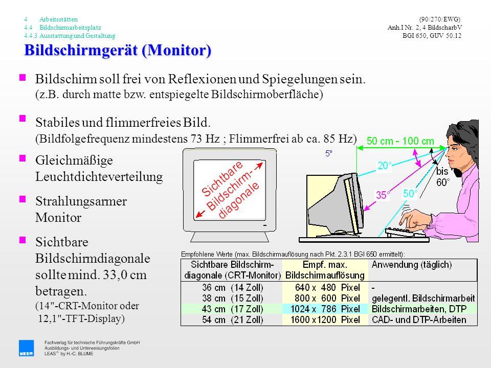 Bildschirmgerät (Monitor)