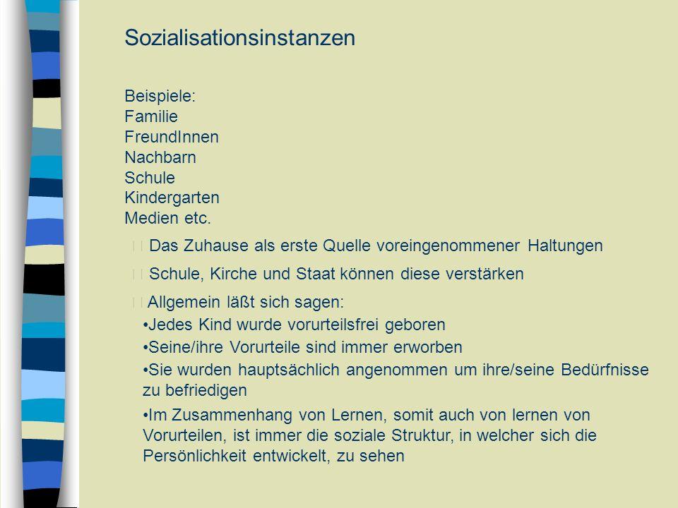 Sozialisationsinstanzen