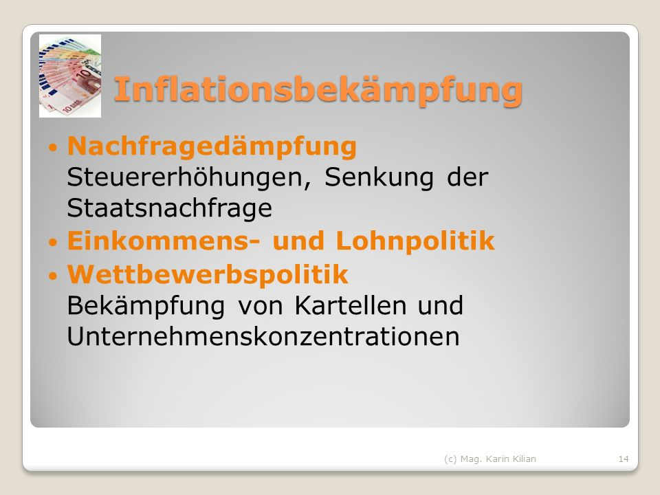 Inflationsbekämpfung