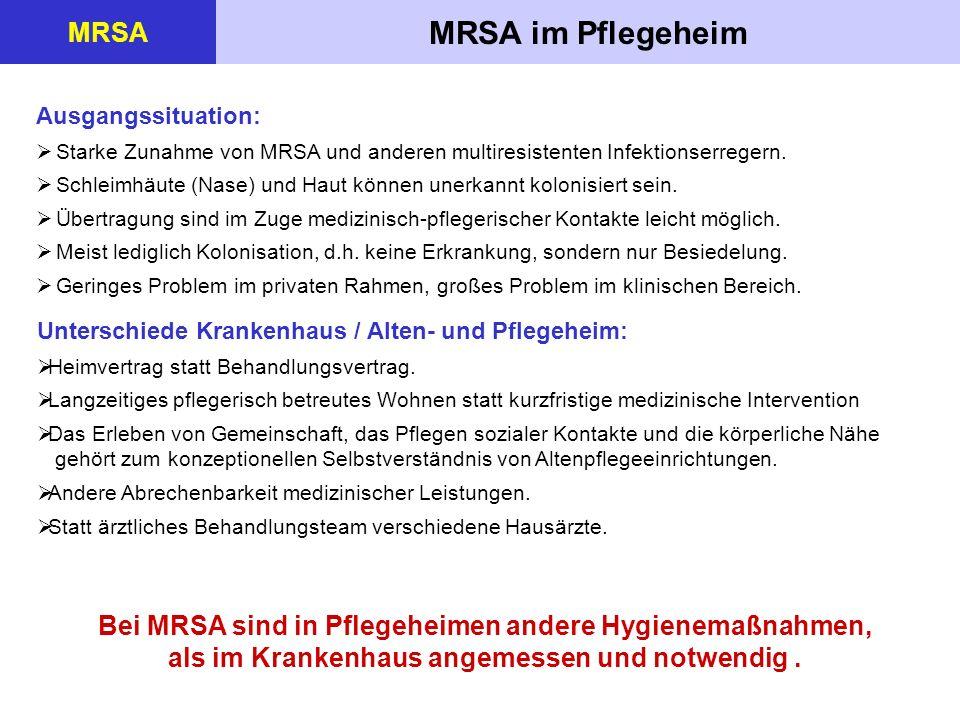 MRSA im Pflegeheim MRSA