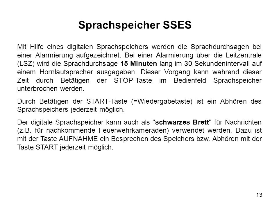 Sprachspeicher SSES