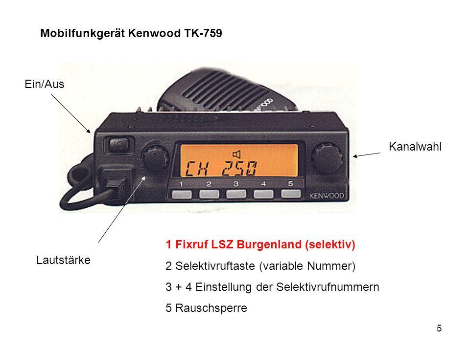 Mobilfunkgerät Kenwood TK-759