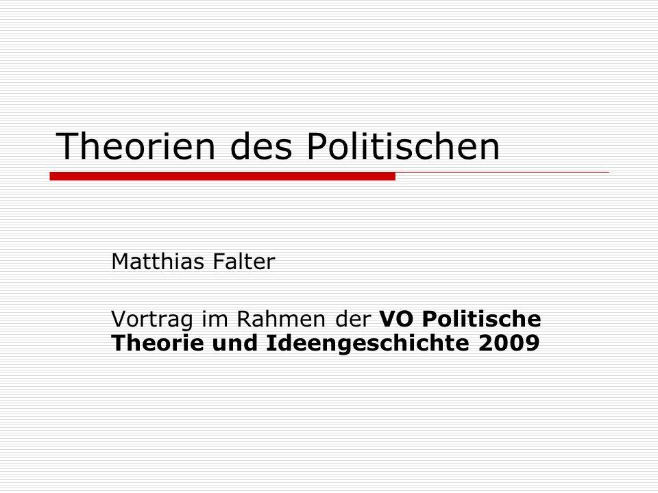 Theorien des Politischen