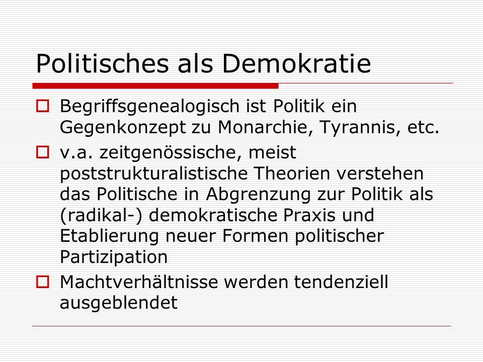 Politisches als Demokratie
