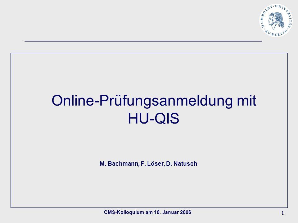 Online-Prüfungsanmeldung mit HU-QIS