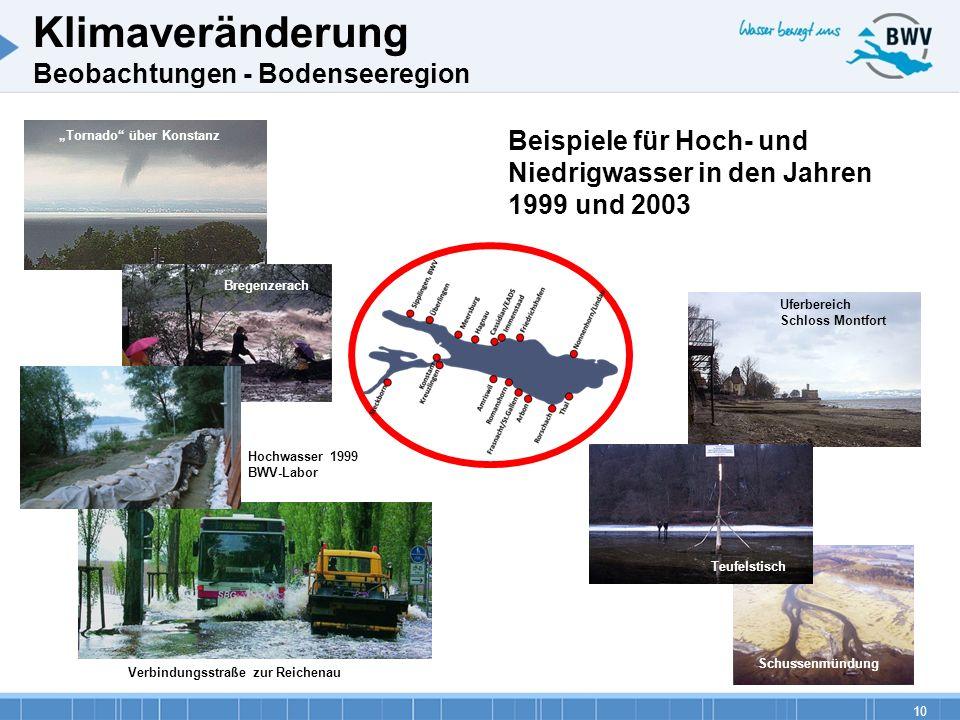 Klimaveränderung Beobachtungen - Bodenseeregion