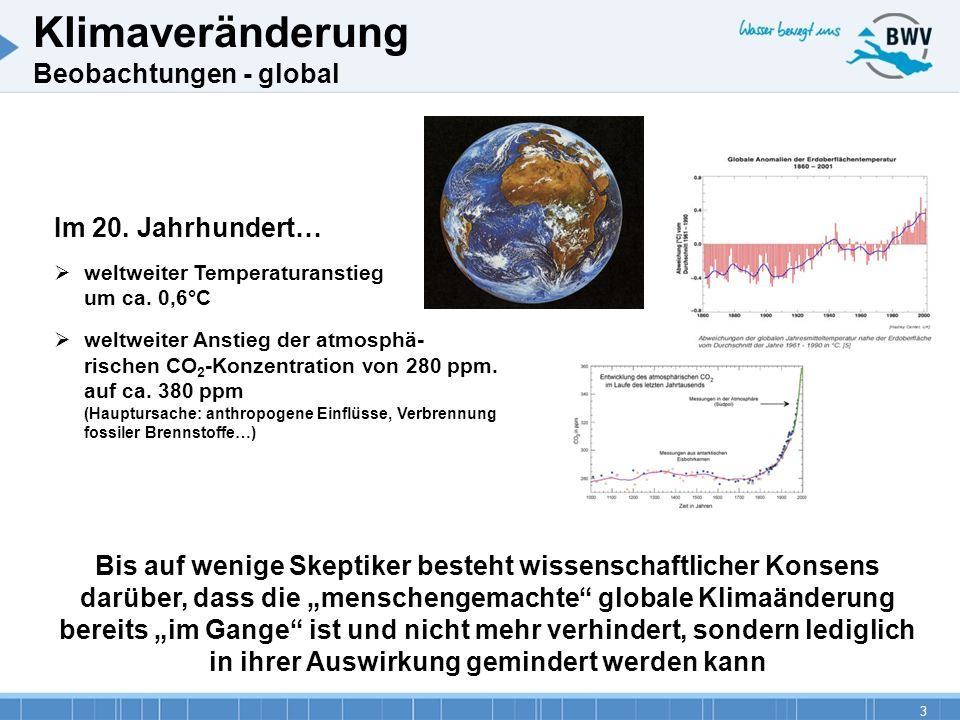 Klimaveränderung Beobachtungen - global