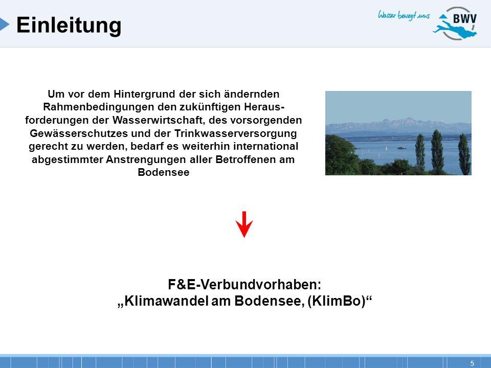 """F&E-Verbundvorhaben: """"Klimawandel am Bodensee, (KlimBo)"""