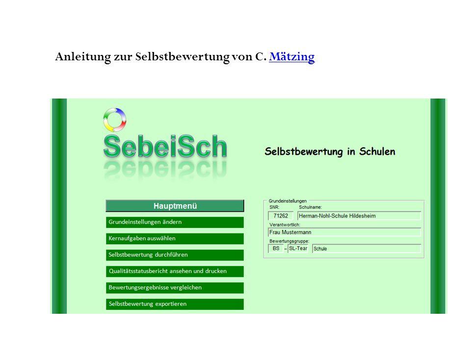 Anleitung zur Selbstbewertung von C. Mätzing