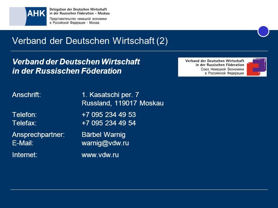 Verband der Deutschen Wirtschaft (2)