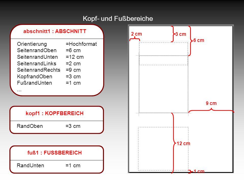 Kopf- und Fußbereiche abschnitt1 : ABSCHNITT Orientierung =Hochformat