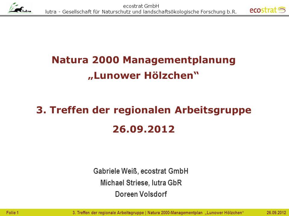 "Natura 2000 Managementplanung ""Lunower Hölzchen"