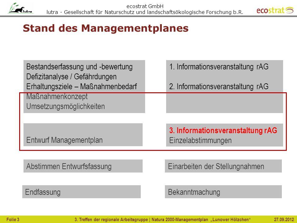 Stand des Managementplanes
