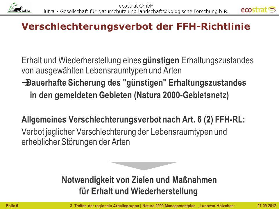 Verschlechterungsverbot der FFH-Richtlinie