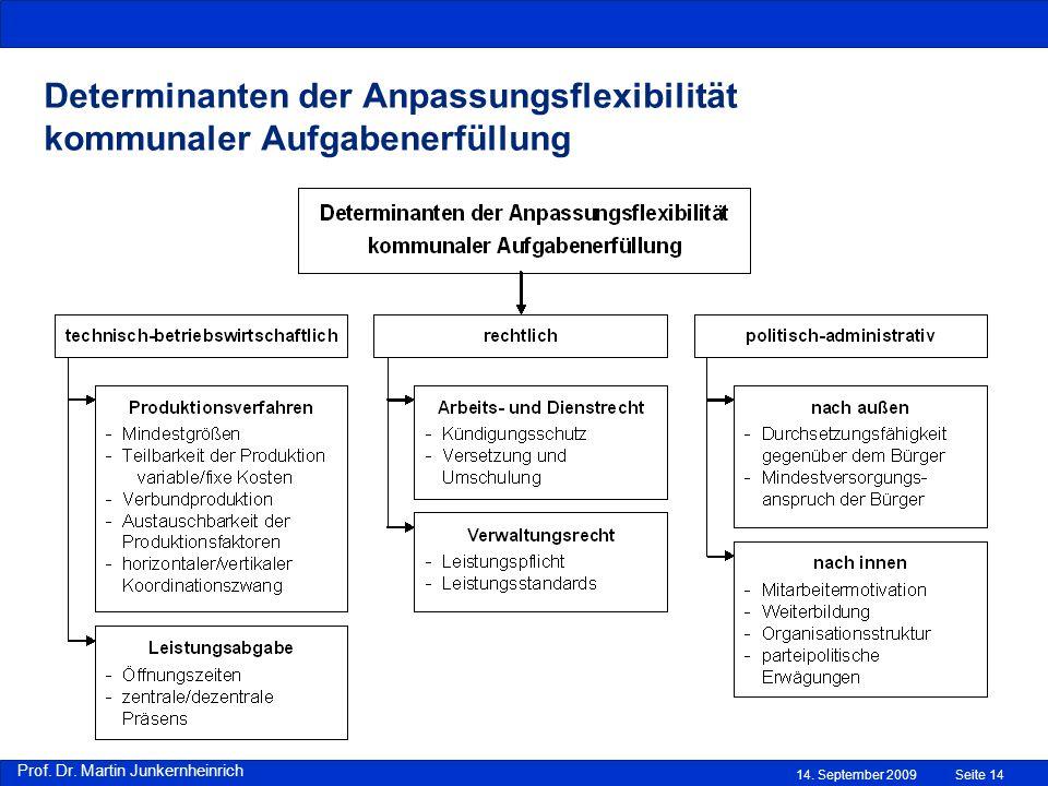 Determinanten der Anpassungsflexibilität kommunaler Aufgabenerfüllung
